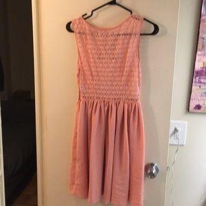 American Apparel Chiffon/Sheer-Lace Dress
